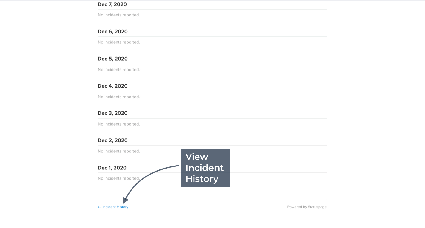 View Incident History