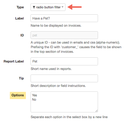 Booking form field editor checkfront support now that we have the question in place we must now create a second question which will be displayed if the customer selects the relevant answer pronofoot35fo Choice Image