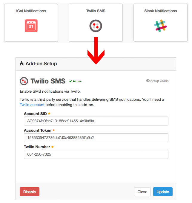 Notifications (Twilio): Setup in Checkfront – Checkfront Support