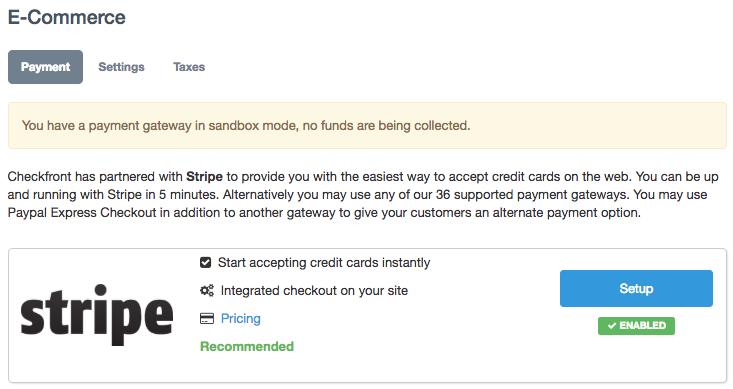Payment Gateways: Stripe – Checkfront Support