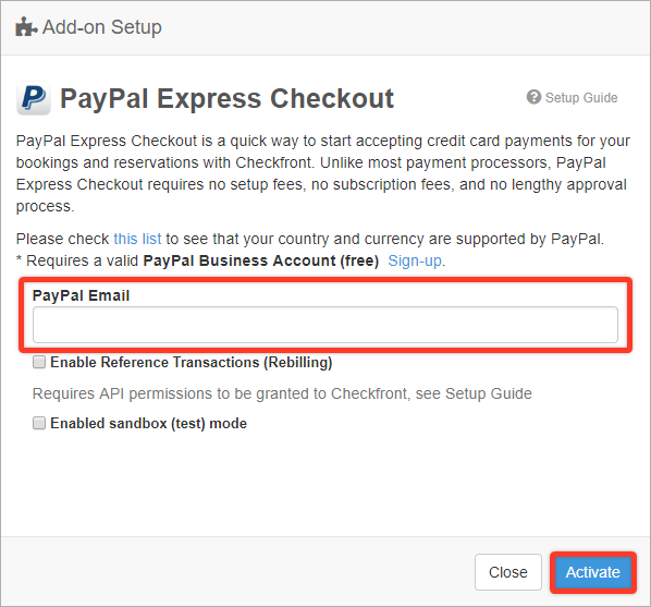 Payment Gateways: PayPal Checkout – Checkfront Support