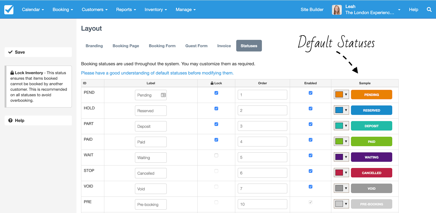 Booking Status: Status Types – Checkfront Support