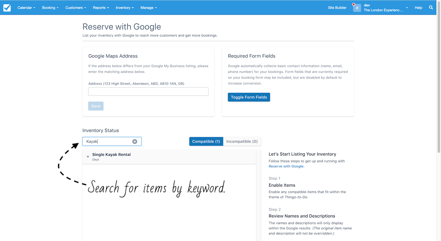 Search for Items by Keyword