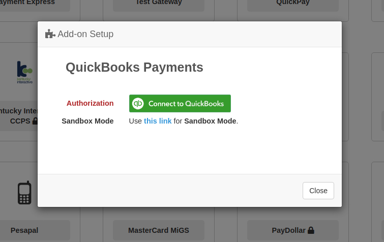 QuickBooks Payments Connect