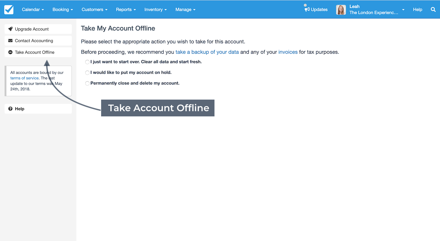 Take Account Offline