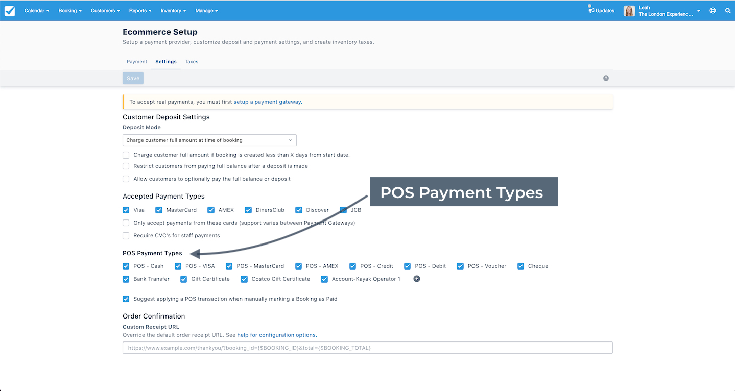 POS Payment Types