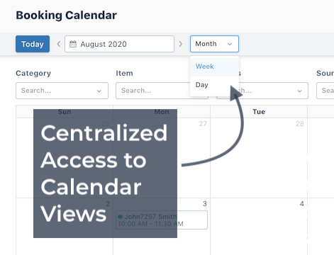 Booking Calendar View Options