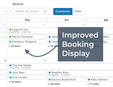 Booking Display