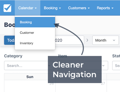 Cleaner Navigation