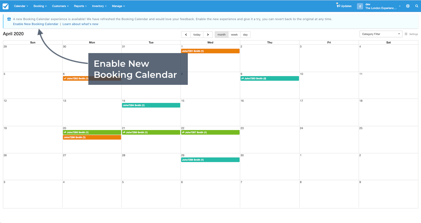 Enable Booking Experience