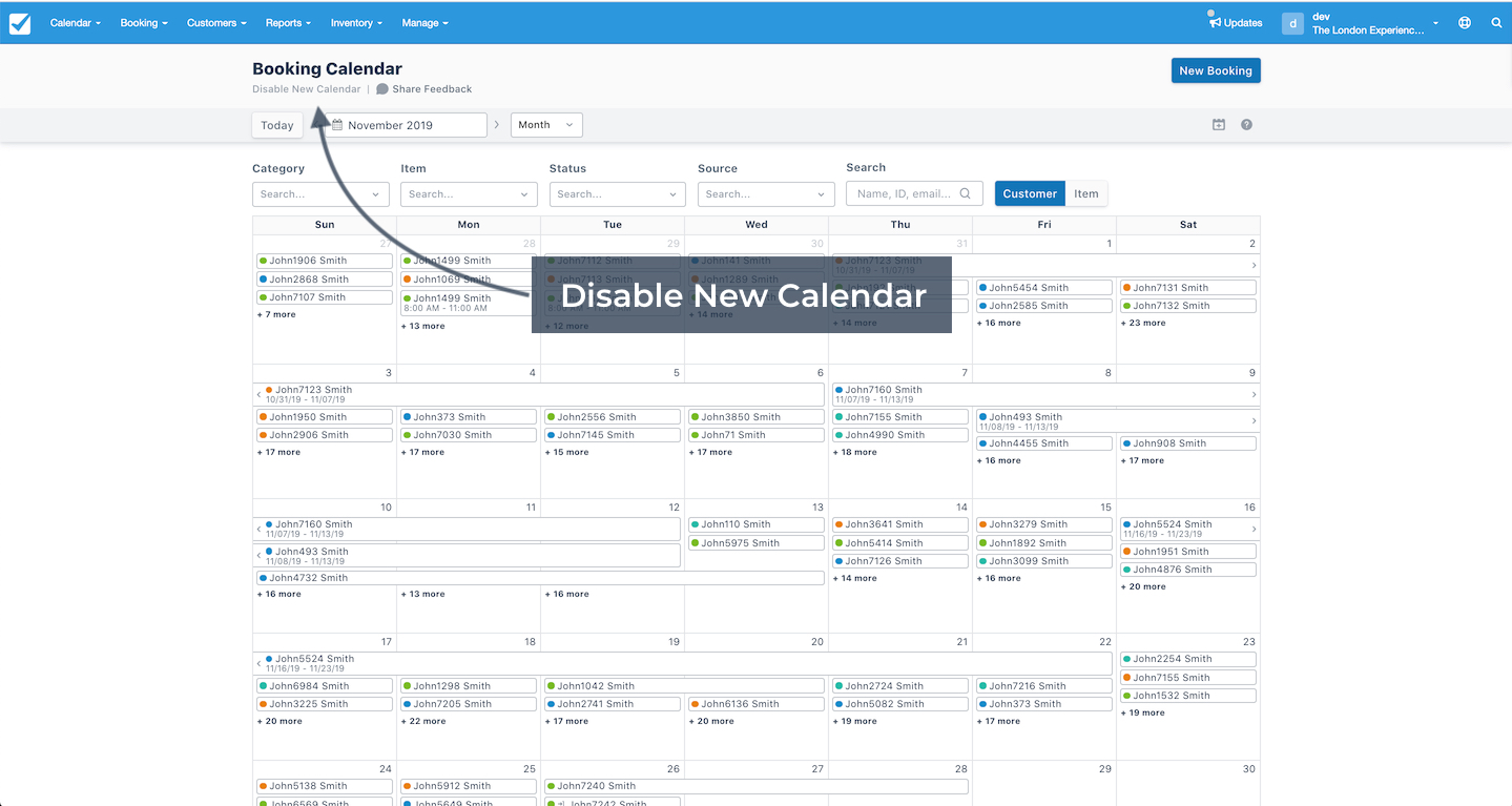 Disable New Calendar