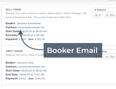 Booker Email